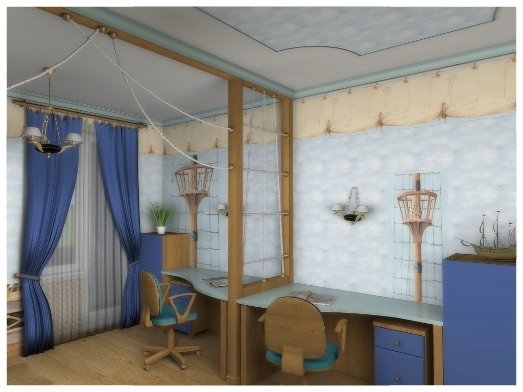 Дизайн интерьеров квартиры. Детская 1.