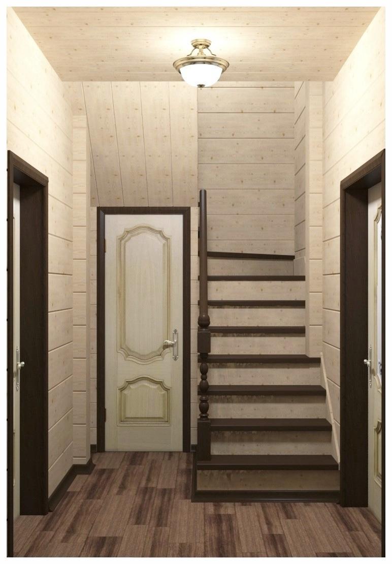 Визуализация интерьера лестничного пространства