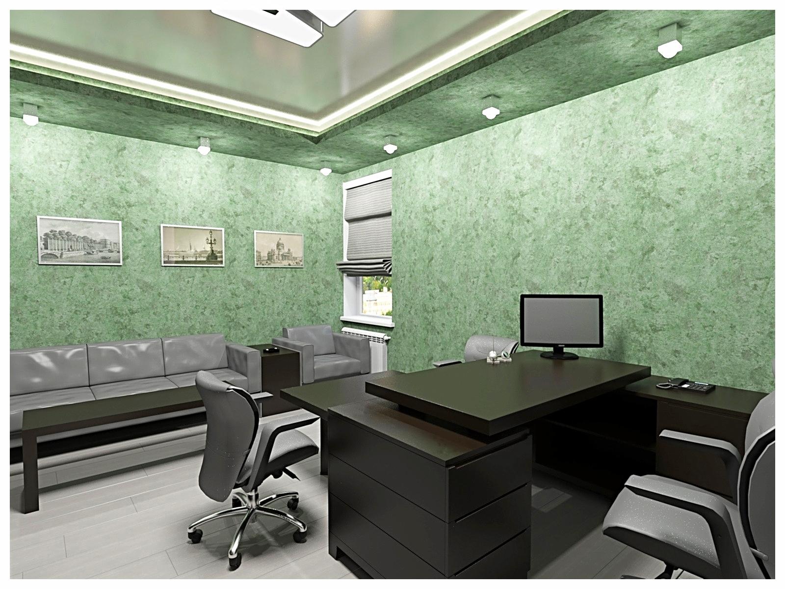 Дизайн интерьеров офиса. Кабинет руководителя 1.