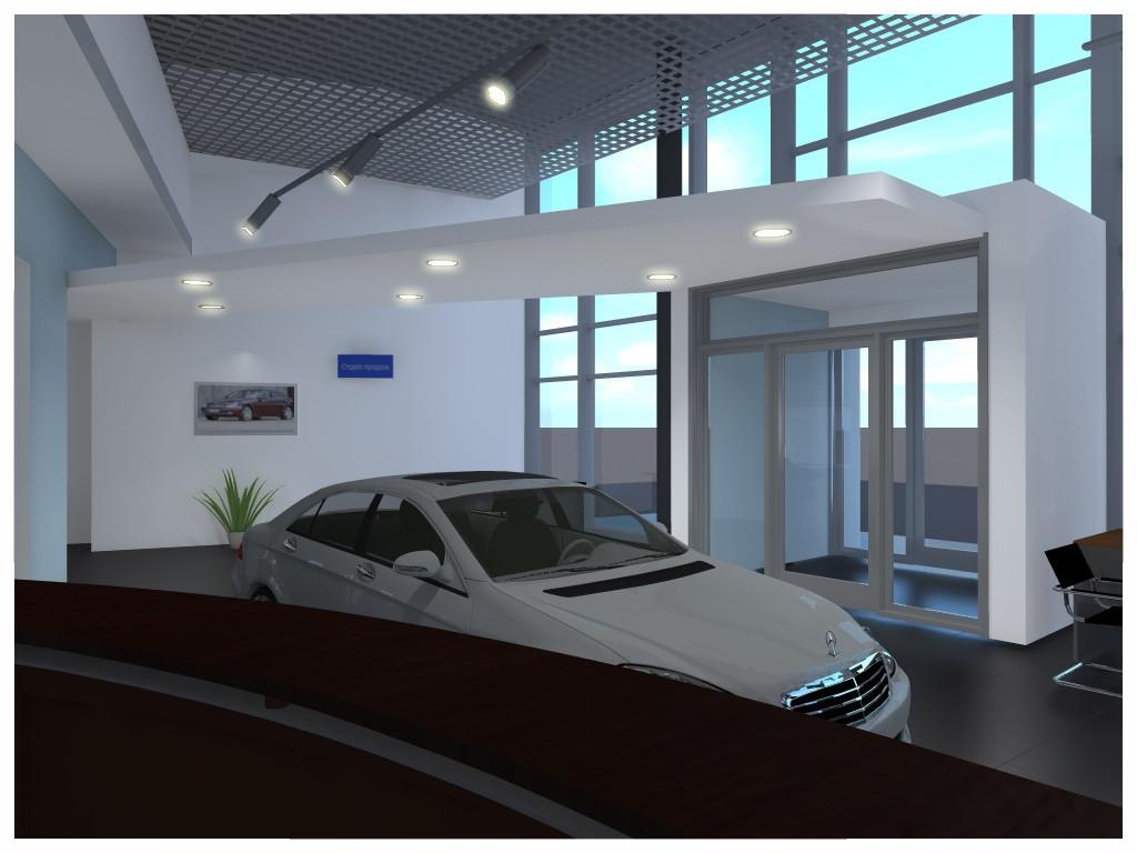 Дизайн интерьеров автосалона 2.