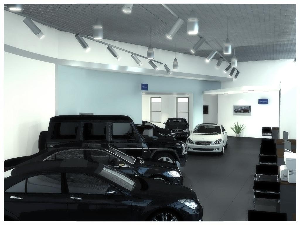 Дизайн интерьеров автосалона 3.