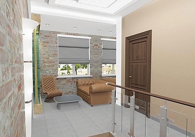"""Дизайн интерьеров офиса фирмы """"НЭК"""". Холл"""