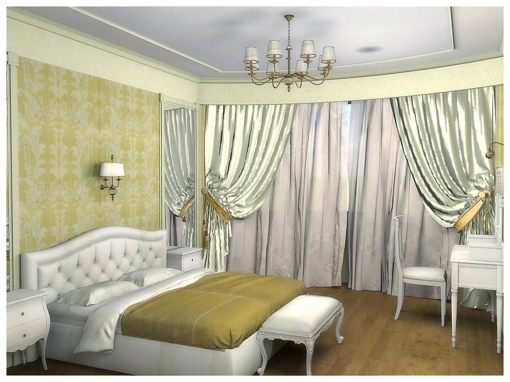 Дизайн интерьеров квартиры. Спальня 1.