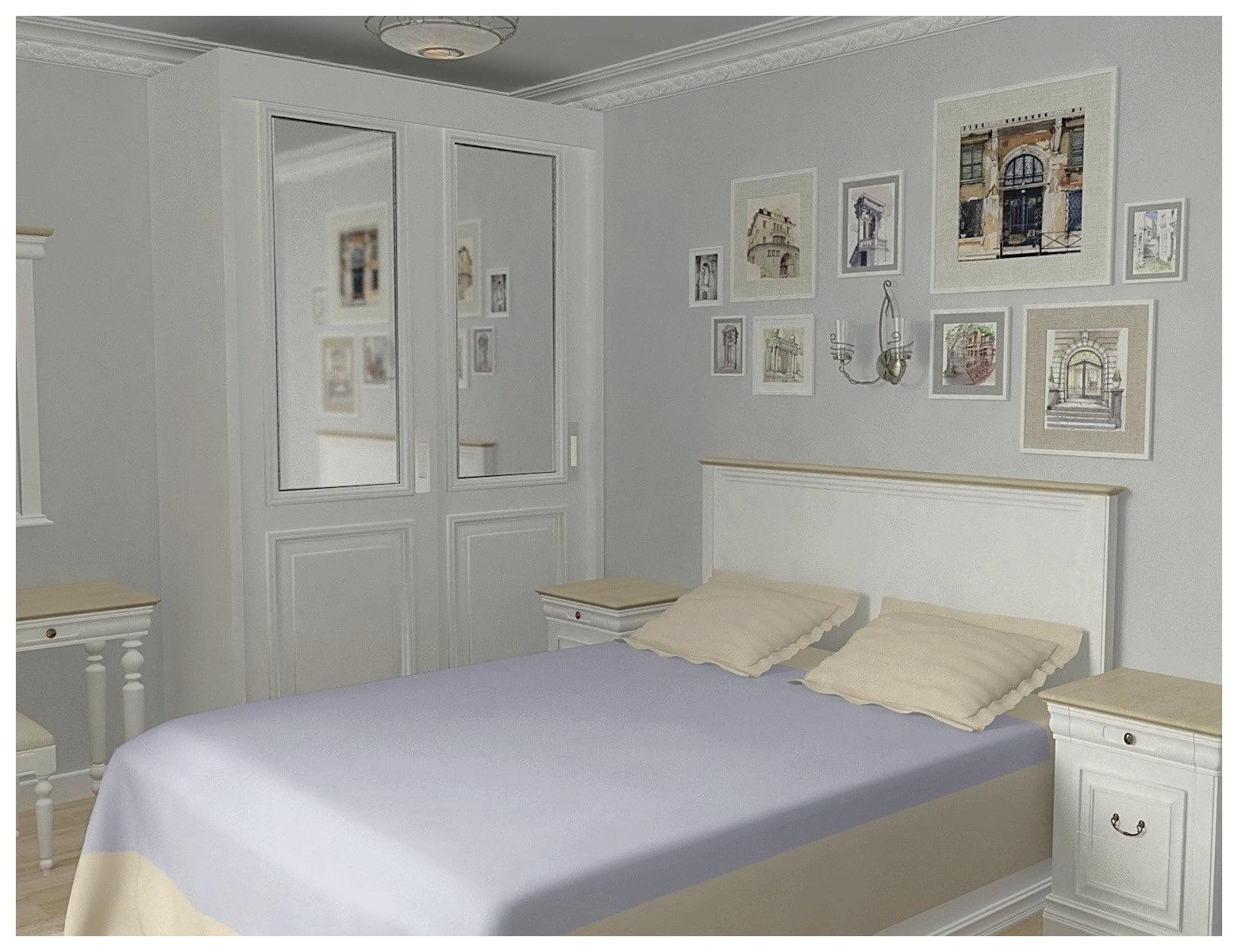 Дизайн интерьеров однокомнатной квартиры. Спальня 1.