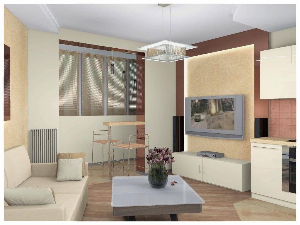 Дизайн интерьеров квартиры-студии 1.