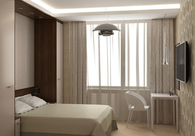 Дизайн интерьера квартиры на ул. Орджоникидзе. Спальня