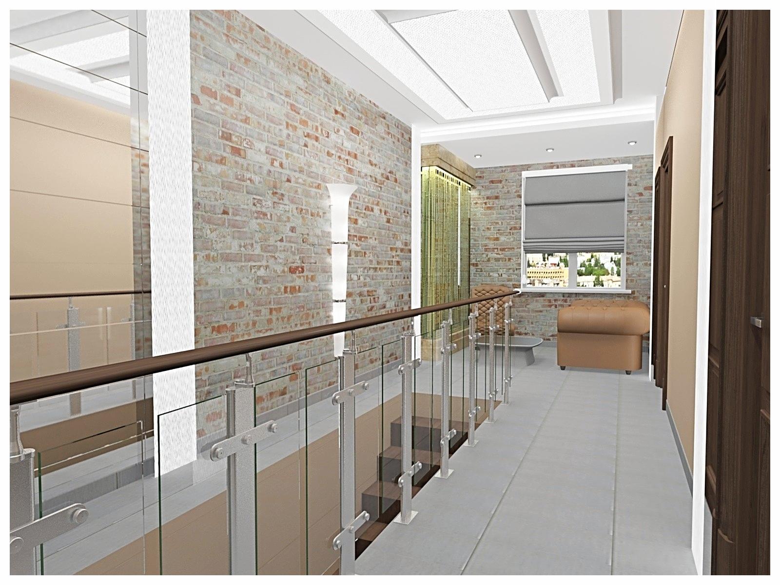 Дизайн интерьеров офиса. Холл второго этажа 1.
