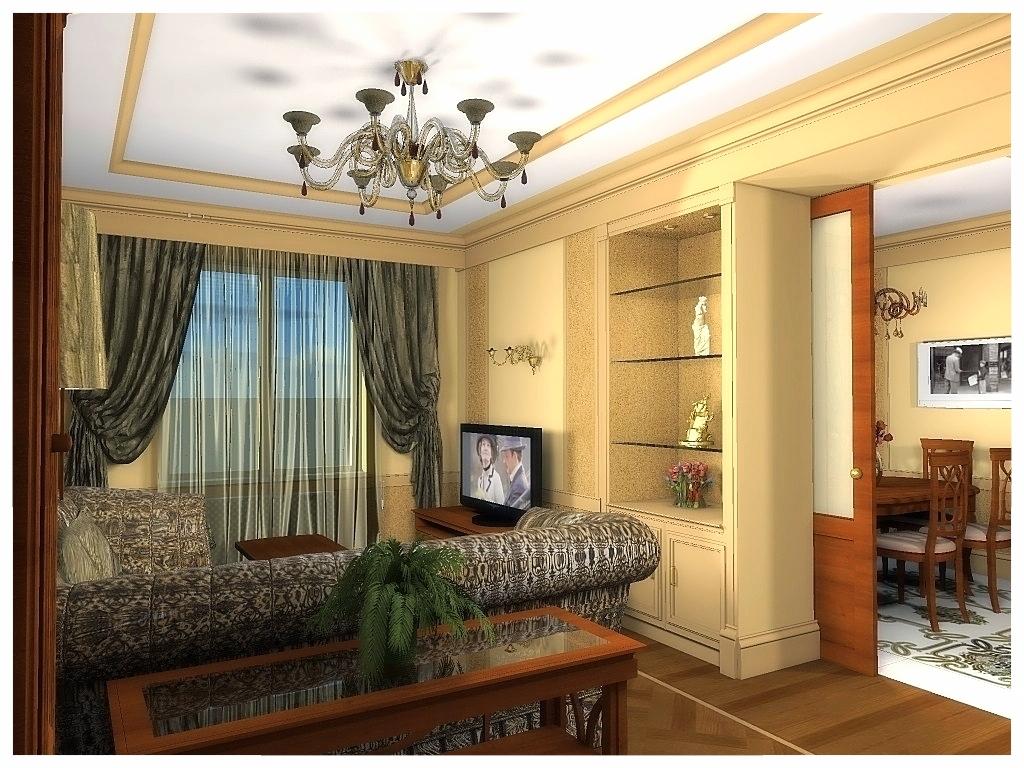 Дизайн интерьеров квартиры. Гостиная 1.