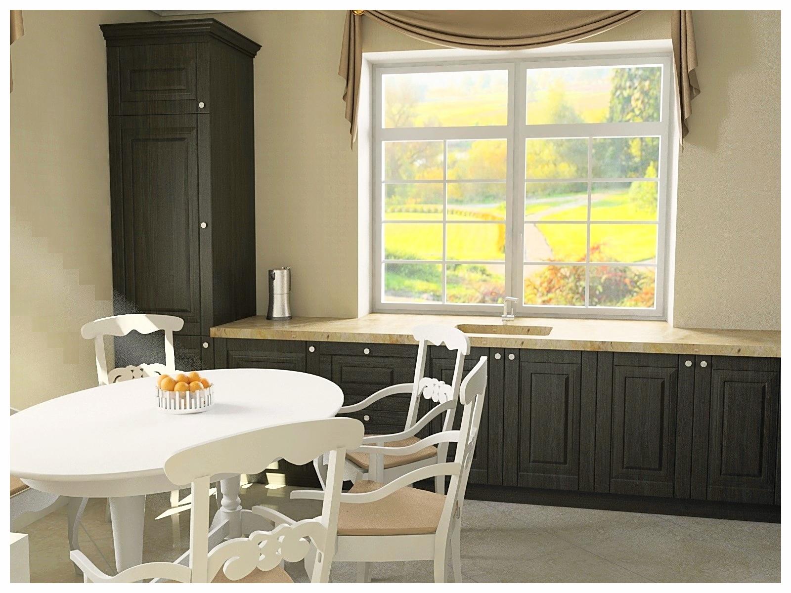 Дизайн интерьеров дома в классическом стиле. Кухня 3.