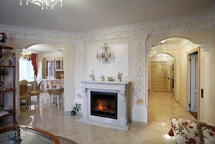 Фотография камина в интерьере гостиной