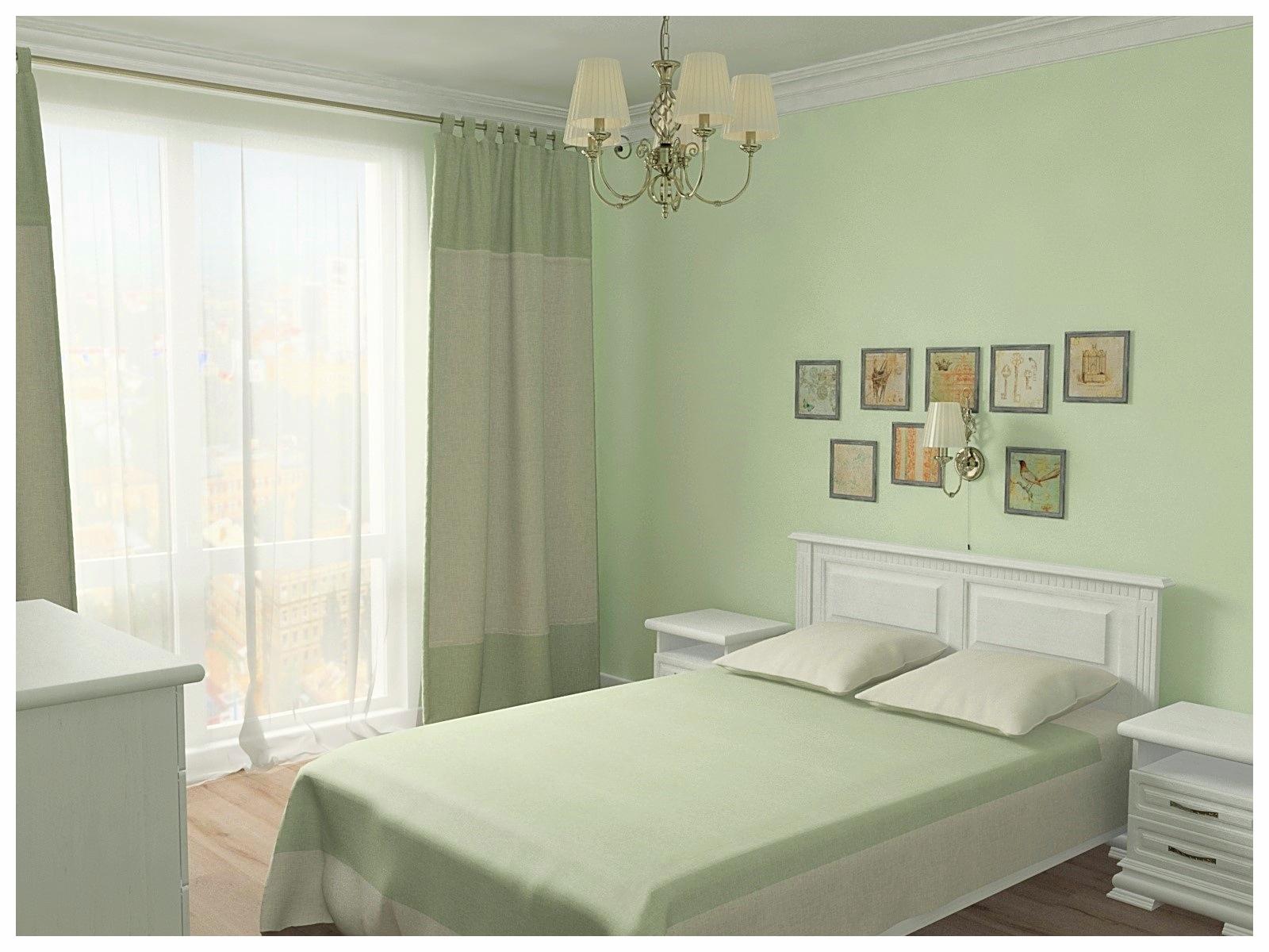 Дизайн интерьеров двухкомнатной квартиры. Спальня 3.
