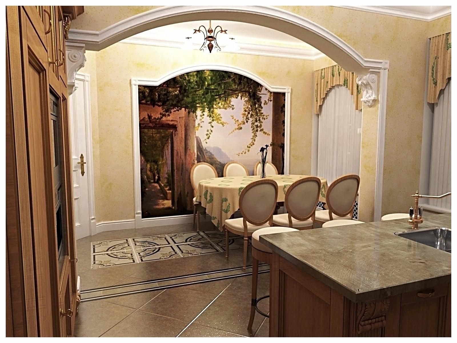 Дизайн интерьеров квартиры в дворцовом стиле. Кухня 1.