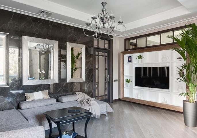 Дизайн интерьера квартиры на Суворовском пр.  Гостиная