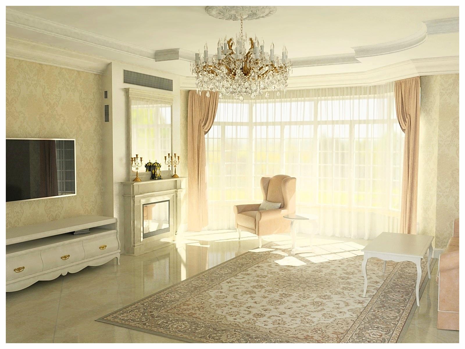 Дизайн интерьеров дома в классическом стиле. Гостиная 2.