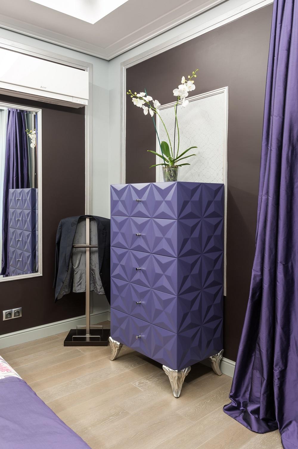 Дизайн интерьера малой спальни. Вид 2