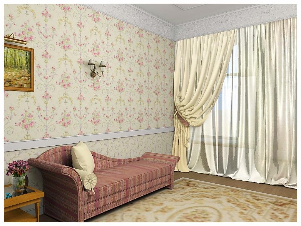 Дизайн интерьеров квартиры в дворцовом стиле. Гостевая спальня .