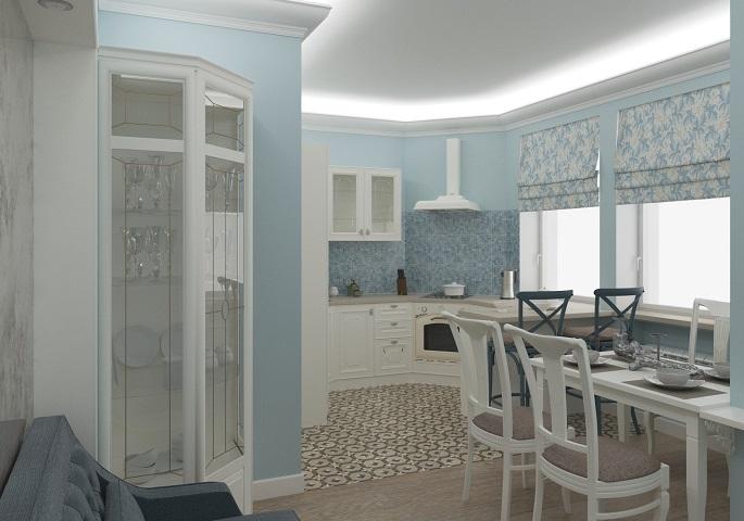 Дизайн интерьера квартиры на Московском пр. Кухня 2