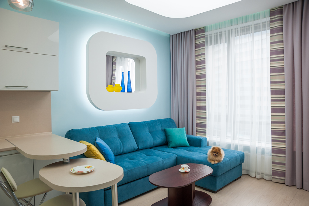 Дизайн интерьеров квартиры-студии, вид 3