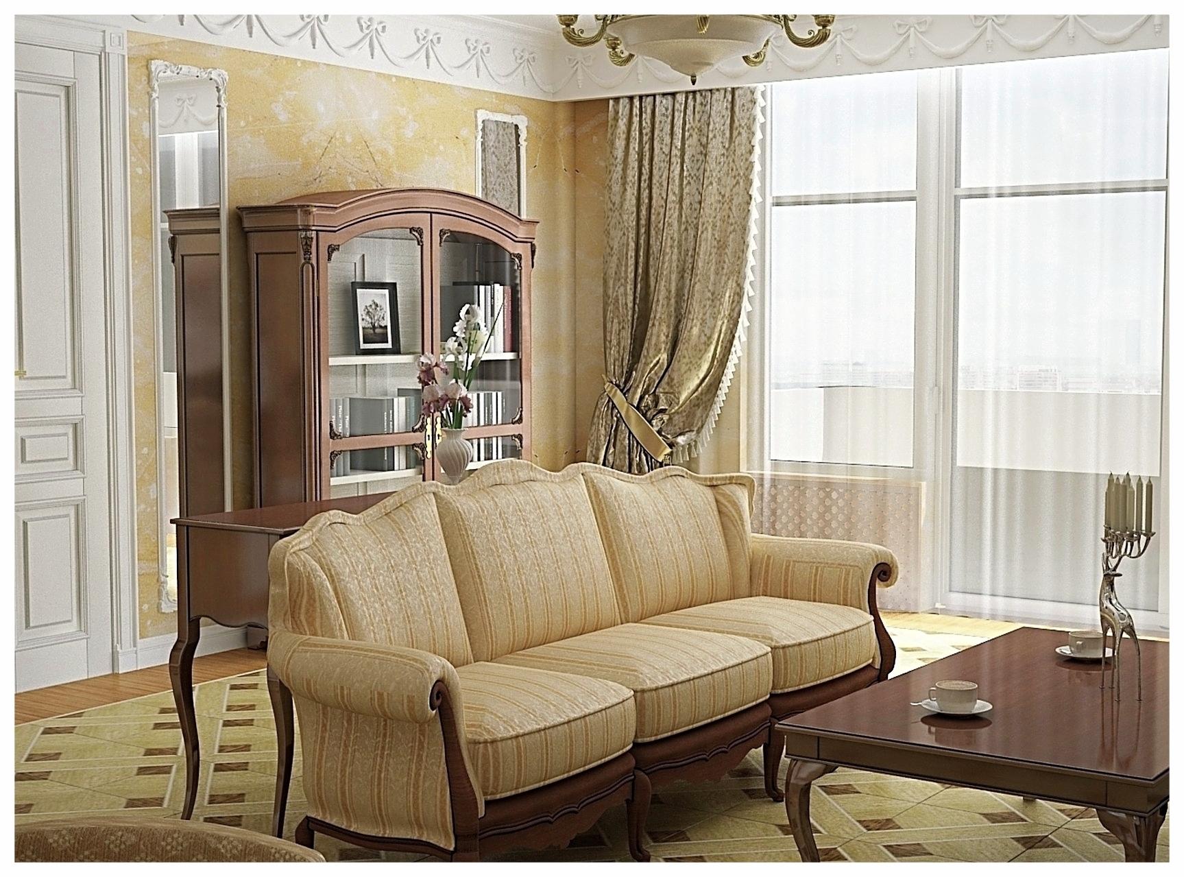 Дизайн интерьеров квартиры в дворцовом стиле. Гостиная 1.