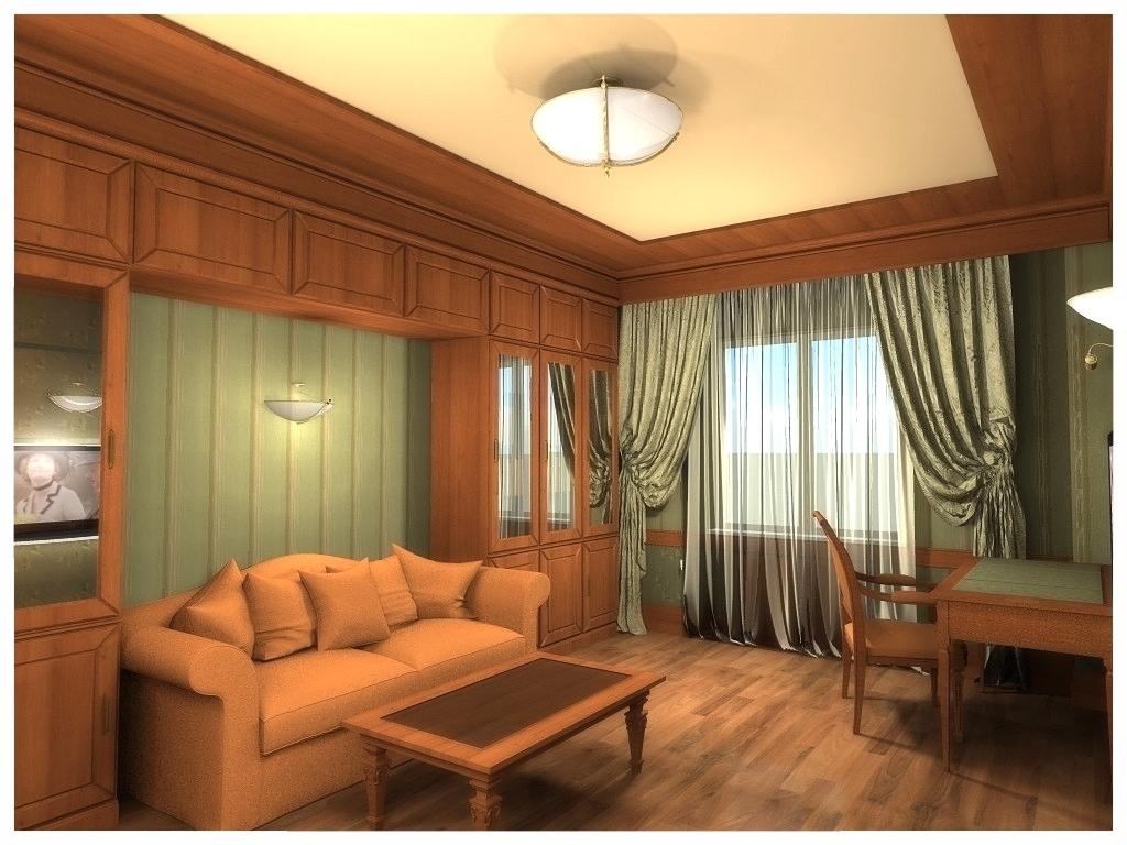 Дизайн интерьеров квартиры. Кабинет 1.