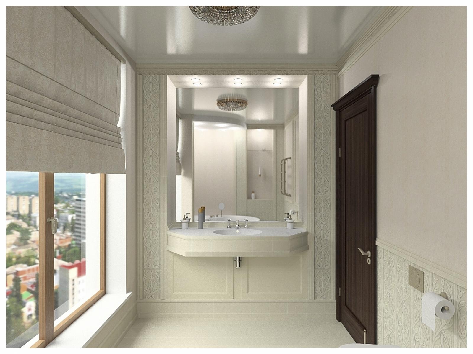 Дизайн интерьеров квартиры в эклектике. Санузел 1.