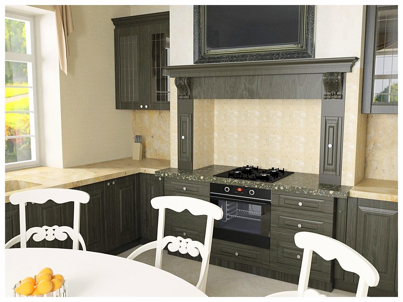 Дизайн интерьеров дома в классическом стиле. Кухня 2.