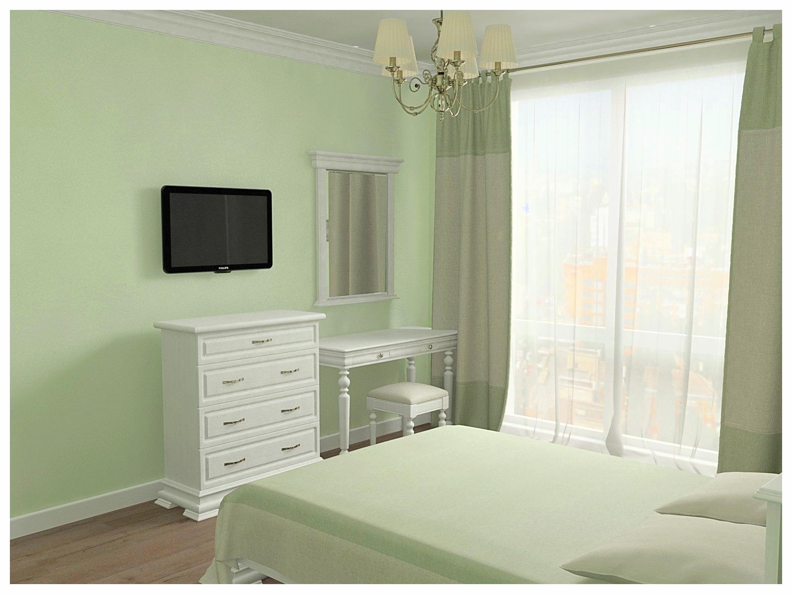 Дизайн интерьеров по договору на дизайн проект двухкомнатной квартиры. Спальня 1.