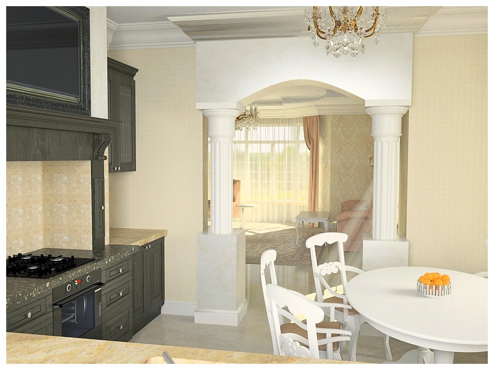 Дизайн интерьеров дома в классическом стиле. Кухня 1.