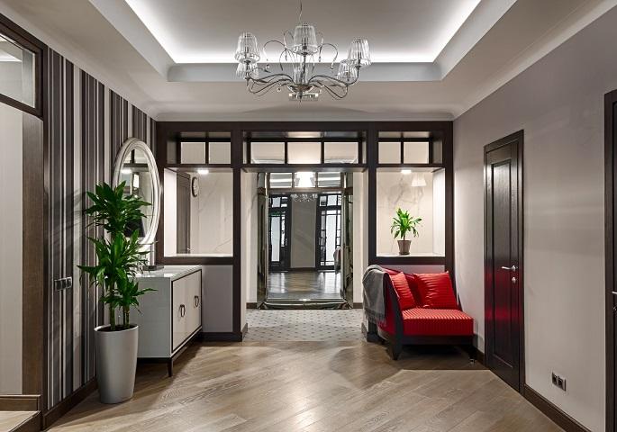 Дизайн интерьера квартиры на Суворовском пр.  Холл