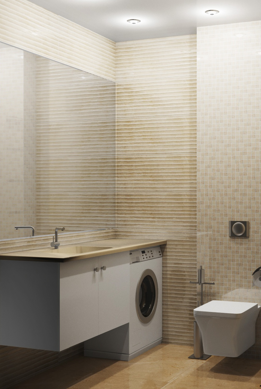 Визуализация мебели в интерьере гостевого санузла