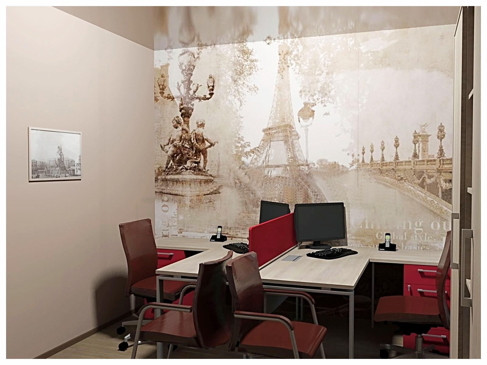 Дизайн интерьеров офиса. Кабинет на первом этаже 1.