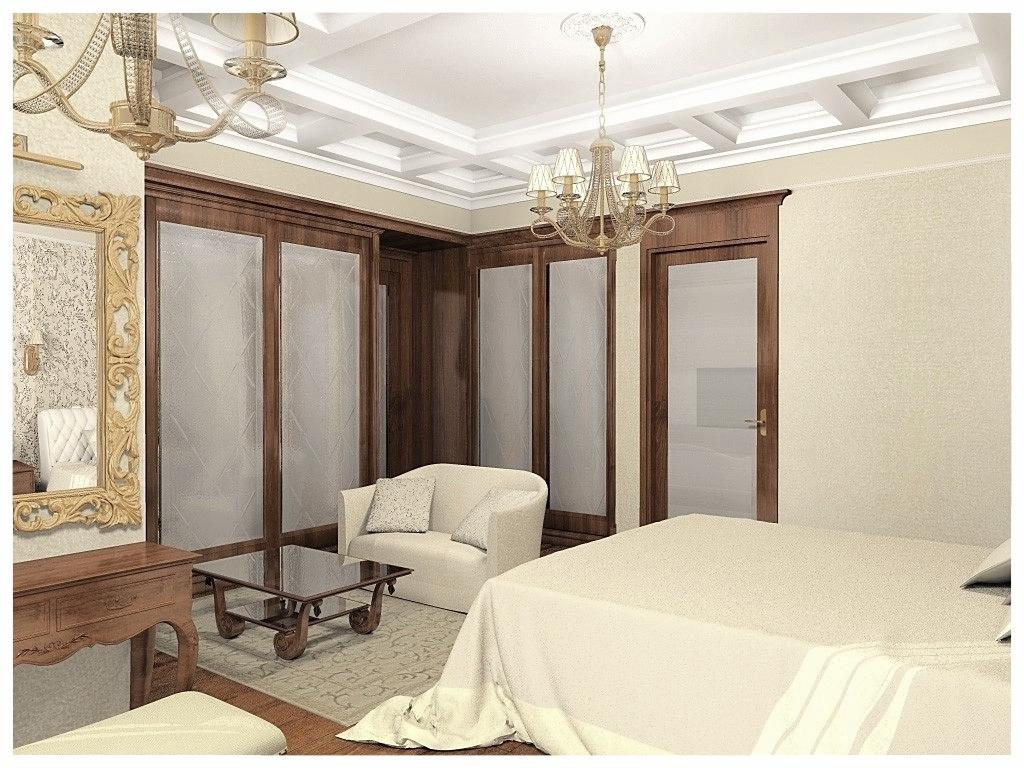 Дизайн интерьеров квартиры в эклектике. Спальня 3.