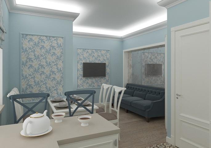 Дизайн интерьера квартиры на Московском пр. Кухня 1