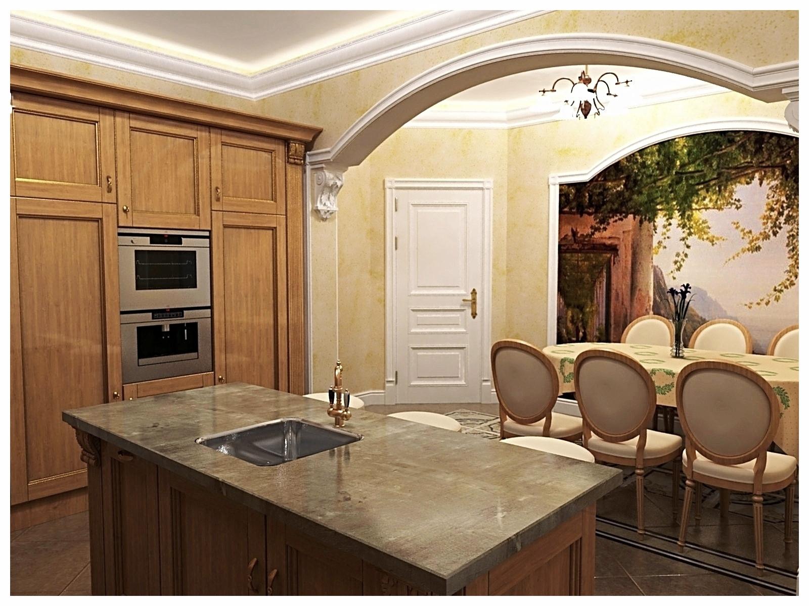 Дизайн интерьеров квартиры в дворцовом стиле. Кухня 2.