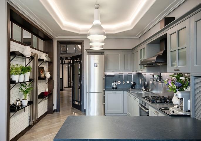 Дизайн интерьера квартиры на Суворовском пр. Кухня
