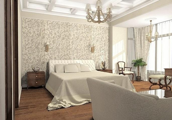 Дизайн интерьера квартиры на ул. Победы. Спальня