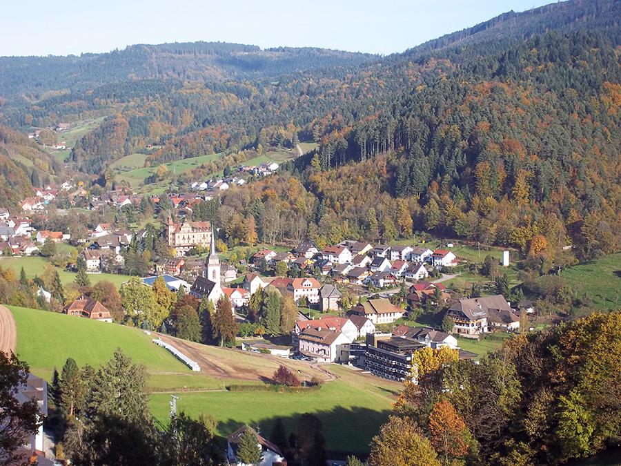 Eingebettet ins Tal: Nordrach