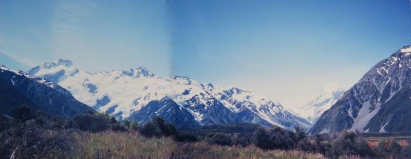 (10) 【28年前(2枚合成)】 前の写真と同じ場所。日付は3日違うだけ。それだけ地球温暖化が進んだということ。