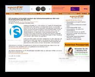 "Grafik: Webscreenshot ""OpenPR""   perfect sense media consulting, Hamburg"