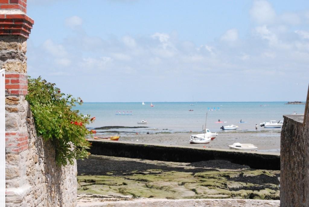 La plage du Mardi-Gras à marée basse