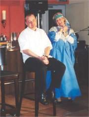 """Eva Stangenberg in ihrem Kabarett """"Theastro"""""""