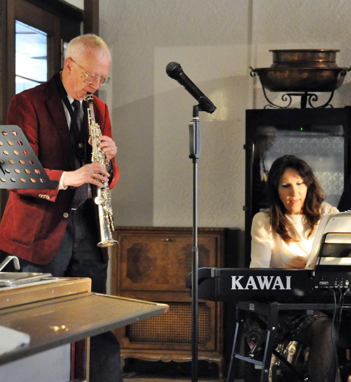 Prof. Dr.  Pfarrer Ernst Saxer Saxophon , Beatrice Ganz, Klavier
