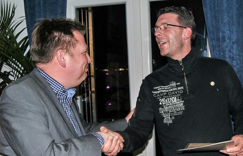 Marco Pfauer wurde für 25 Jahre RSC-Mitgliedschaft geehrt.