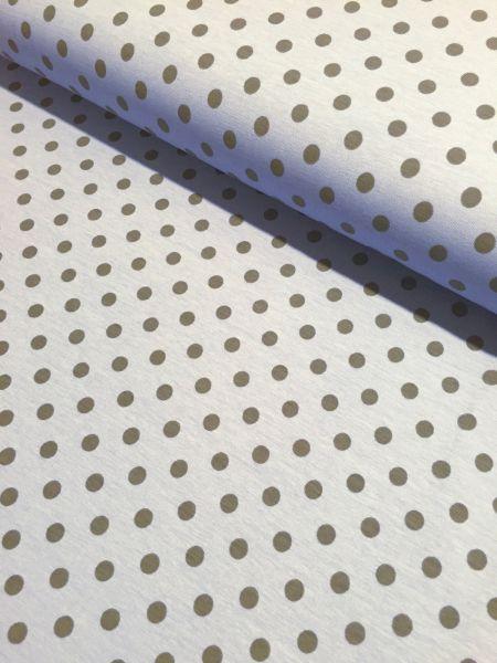 Jersey Dots hellblau/dunkelgrau