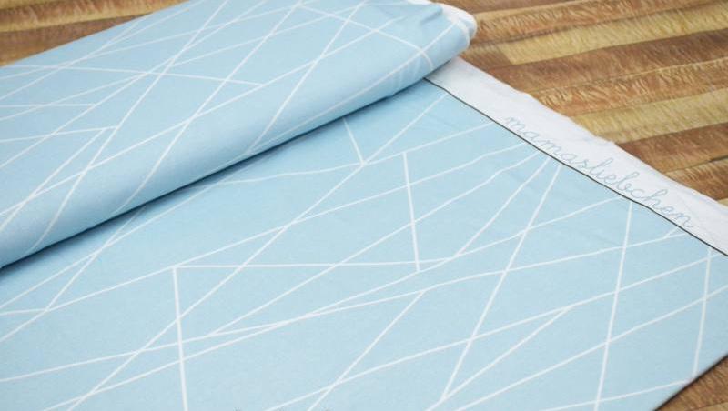 Jersey Geometrie blau