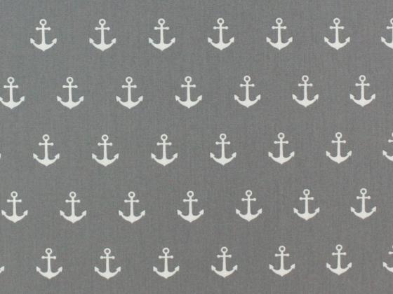 Baumwolle Anker groß grau