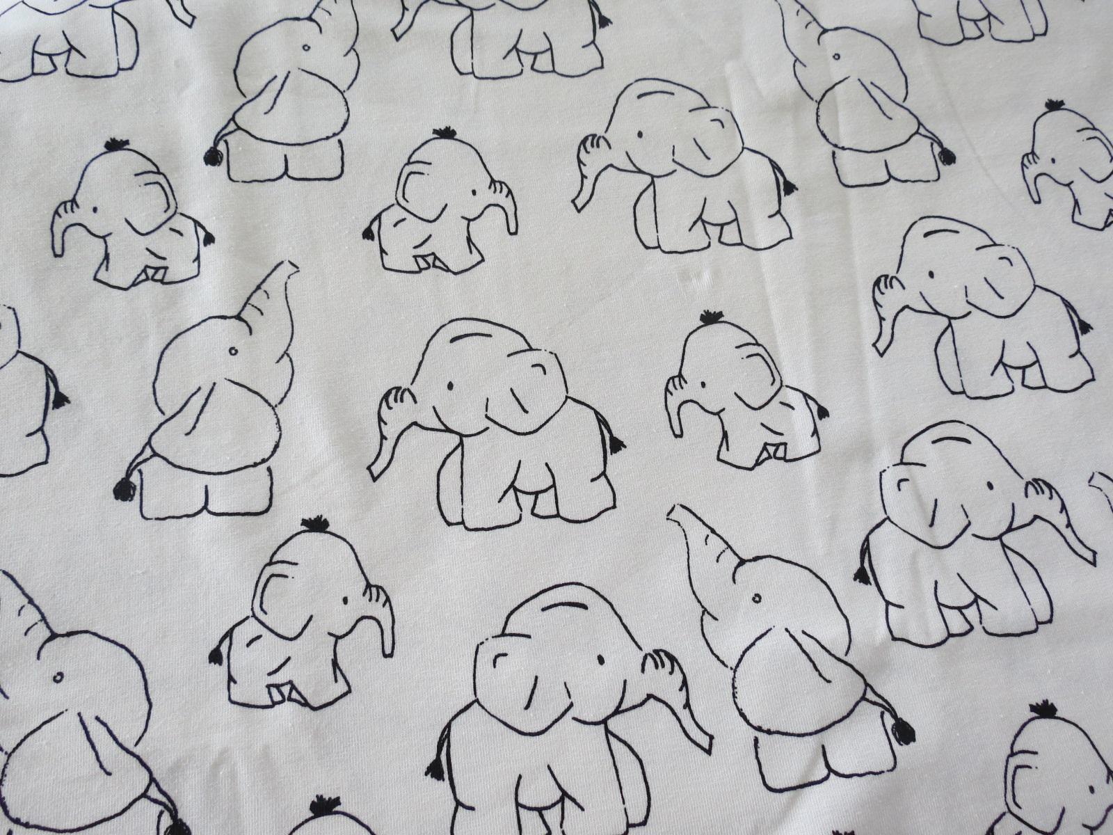 Jersey Elefant weiß