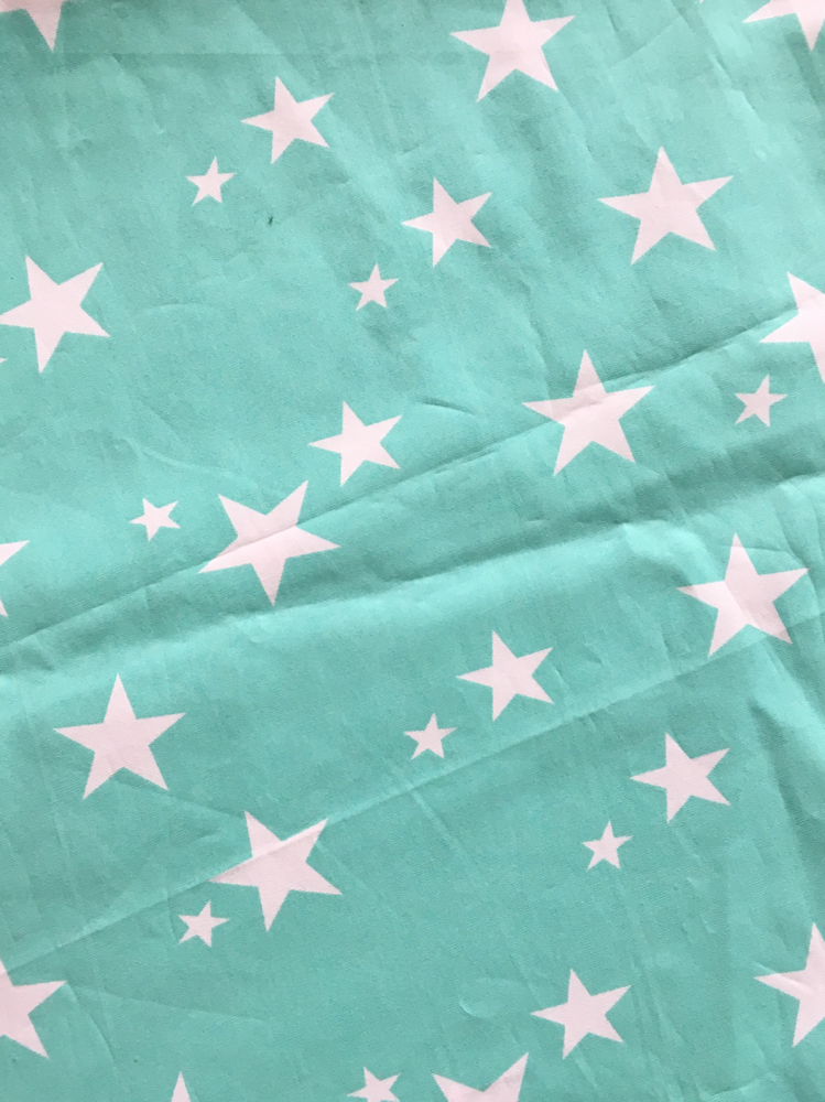 Baumwolle türkis Sterne