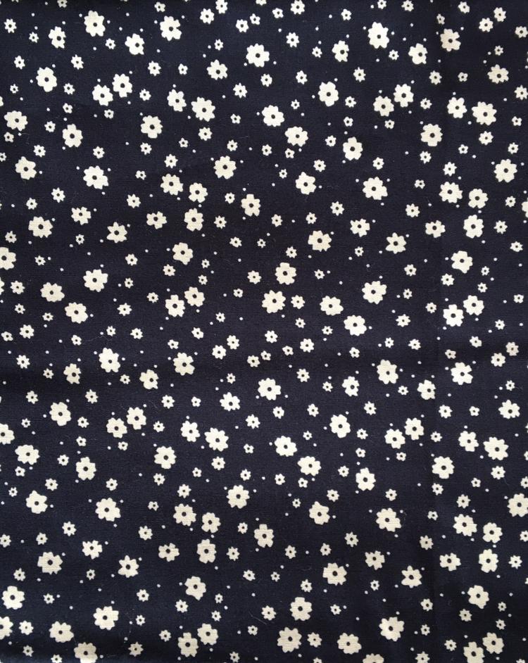 Baumwolle hellblaue Blumen