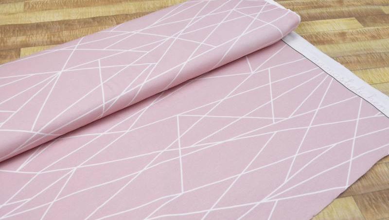Jersey Geometrie rosa